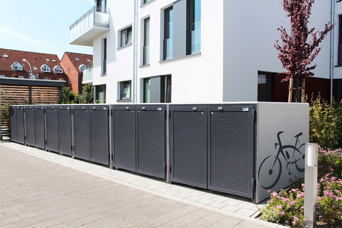 fahrradgarage 2 nt design serie 2000 typ l illmann gmbh co kg. Black Bedroom Furniture Sets. Home Design Ideas